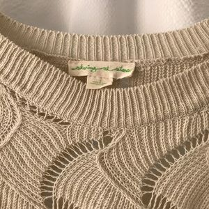 Staring at Stars Sweaters - Staring at Stars Knit Crochet Cut Out Sweater